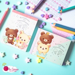 Mini Bloc-notes Korilakkuma & Chairoikoguma