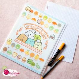 Pochette porte-documents A4 Sumikko Gurashi Bakery - Blanc-Pâtisseries