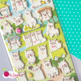 Stickers puffy Alpaga (4)