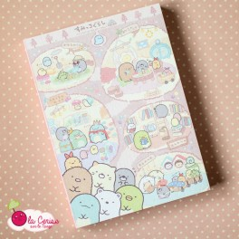Bloc notes illustré Sumikko Gurashi et Mogura