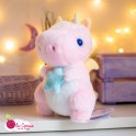 Peluche Dragon Pastel Rose