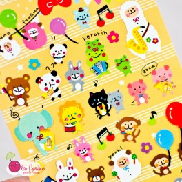 """Stickers Kawaii """"Fortune Marching"""""""
