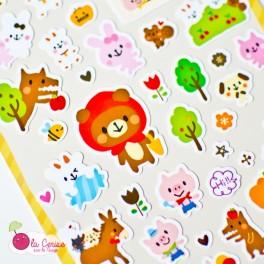 "Stickers Kawaii ""Fairy Tales Animals"""