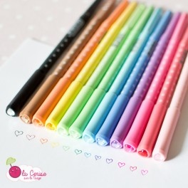 "Stylo couleur ""Dots & Hearts"""