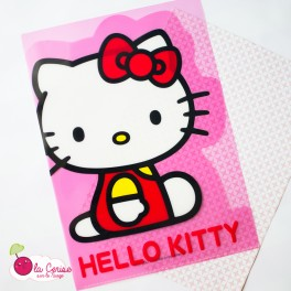 "Pochette plastifiée A4 ""Hello Kitty"""