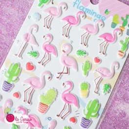 Stickers puffy Flamingo (4)