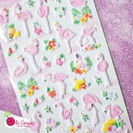 Stickers puffy Flamingo (3)
